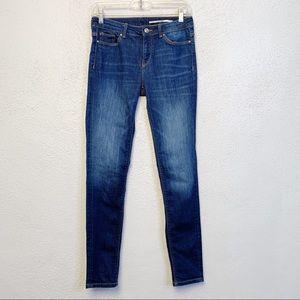 Zara Woman Medium Rise Slim Fit Jeans